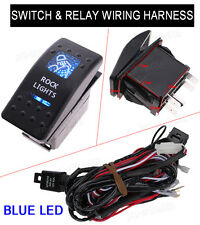 Universal 5Pin Car Dual LED Rock Light Switch Toggle ON-OFF Relay Harness Wiring