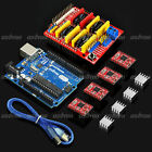 CNC Shield + UNO R3 Board + A4988 Driver + Heatsink Kits for Arduino 3D Printer