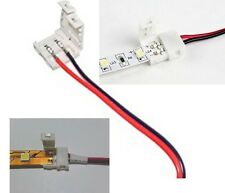 10 X PCB Conector Cable Adaptador De Corriente Para 3528 Solo Color Tira De Luz Led
