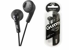 Genuine JVC HA-FX5 Gumy Plus In-Ear Stereo Earphones Gummy Headphones in Black