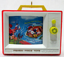 Hallmark 2012 Fisher Price Two Tune TV Keepsake Christmas Ornament w/ Sound