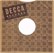 """1940s 10"""" inch Version 2 DECCA Records Record SLEEVE ONLY 78 RPM"""