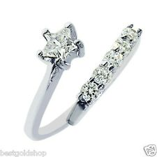 Prong Set Star CZ Toe Ring Real Solid 925 Sterling Silver ONE SIZE FITS ALL