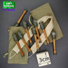1:6 Scale DID WWI German D11004 Lutz Fedder -Stick Grenade w/ Bag + Bandolier