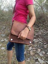 New Men & women Genuine Vintage Brown Pure Leather Messenger Bag Shoulder bag