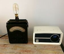 Vintage AvoMeter 40 Table Lamp Edison Bulb Steampunk Retro Industrial Desk Light