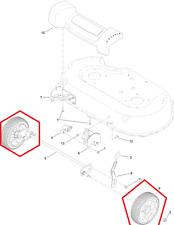"""Genuine TORO TIMEMASTER 20975 30 """"RUOTE ANTERIORI (COPPIA) incl. CUSCINETTI 125-2510 U321"""