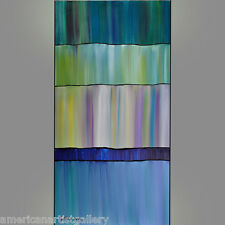 ORIGINAL PAINTING Abstract 24X48 Modern Fashion Impasto Wall Art By Thomas John