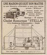 Z8159 Chalet Remorque STELLA - Pubblicità d'epoca - 1930 Old advertising