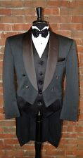 MENS 48 L CHARCOAL GREY WOOL SHAWL TAILS TUXEDO JACKET FULL DRESS  by  LORD WEST