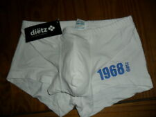 delio dietz 1968 tight boxer white with blue logo small bnwt enhancing authentic