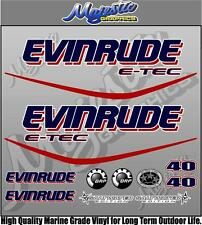 EVINRUDE ETEC - 40hp - OUTBOARD DECALS