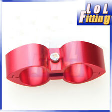 -12AN AN12 ID 23.44mm Billet Fuel Red Hose Separator Fitting Adapter