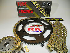 YAMAHA YZF R1 '04-05 RK GOLD 520GXW X-RING QUICK ACCEL CHAIN AND SPROCKETS KIT
