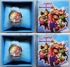 12Pcs Super Mario Bros Wrist watch Children Cartoon watch With Box Party Gifts
