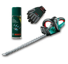 Bosch Heckenschere AHS 70-34 inkl. Pflegespray und Handschuhe