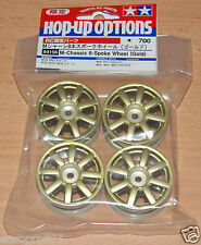 Tamiya 84156 M-Chassis 8-Spoke Wheel (Gold) (M01/M02/M03/M04/M05/M06) NIP