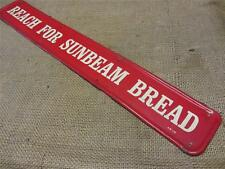 Vintage 1964 Sunbeam Bread Door Push Sign   Antique Old Kitchen Flour 9137