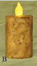 "2""x3"" Pillar Candle in Ivory/Rolled Cinnamon with 6 Hour Timer, Battery Candle"