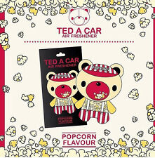 TED A CAR Popcorn Scented Car & Home Air Freshener TEDACAR Teddy Little Tree