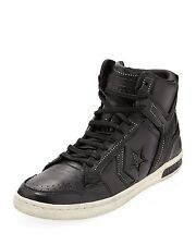 JOHN VARVATOS CONVERSE WEAPON MID BLACK/TURTLE SILVERTONE STUDS SNEAKERS SIZE 11