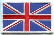BRITISH FLAG white border IRON-ON PATCH **FREE SHIPPING** -c p0189 union jack