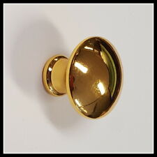 30x die-cast Mushroom Knob Gold Plated - For Draws, Cupboards & Cabinets