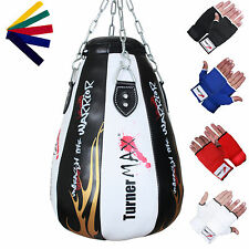 TurnerMAX Maize Bag Maize Ball Punch Bag Upppercut Bag Punchbag Black White