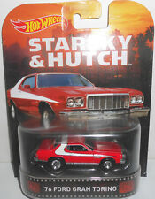 1/64 Hot Wheels Retro K Case Starsky & Hutch '76 ford Gran Torino