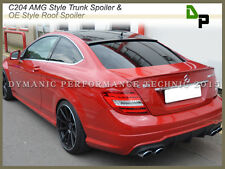 #590 AMG Trunk Spoiler & #040 OE Roof Wing For M-BENZ C204 C-Class Coupe 12-14