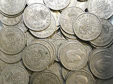 10 x florins/deux shilling pièces 1947 à 1967