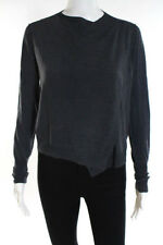 Strenesse Blue Gray Wool Long Sleeve Crew Neck Sweater Size 0