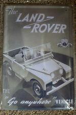 Land Rover  Tin Metal Sign Painted Poster Comics Book Superhero Wall Decor Art