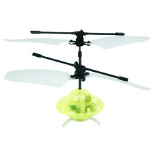 Remote Control 2 CH Yellow RC Mini UFO LED Helicopter GYRO Aircraft Plane Alien