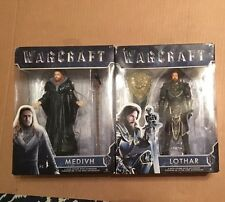 "NEW In Box Warcraft Medivh And Lothar 6"" Action Figures Lot Of 2"