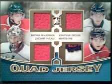 AUTHENTIC QUAD PIECES FROM HALIFAX MOOSEHEADS STARS GAME-USED JERSEYS /10  SP