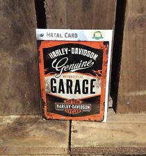 Harley Davidson Motorcycle TIN POSTCARD Vintage Retro Tin Signs Official Product