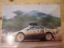 Lancia Stratos Alitalia Safari Rally - large photo poster