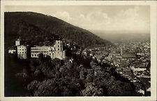 HEIDELBERG um 1940 AK Totalansicht mit Schloss Castle alte Postkarte ungelaufen
