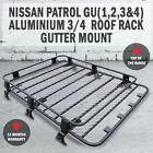 NISSAN PATROL GU(1,2,3&4) ALUMINIUM 3/4 ROOF RACK GUTTER MOUNT BASKET UNIVERSAL