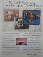 6/93 PUB TEXTRON LYCOMING LF507 TURBOFAN ALF502 PLF1A AIRLINER PARIS AIR SHOW AD