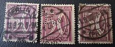 GERMANY 1921 INFLATION 50pf VIOLET VARIERTY IN 3 SHADES DEUTSCHES REICH
