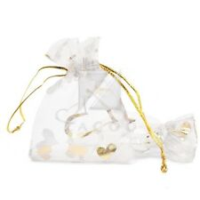 25pcs Organza Gift Bags 7x9cm Wedding Craft Jewelry Candy Pouches White 7x9cm