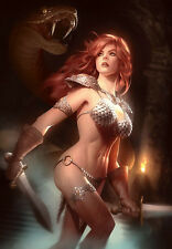 Red Sonja ~ Alex Garner Signed Sideshow Exclusive LE Art Giclée Print ~ #172/200