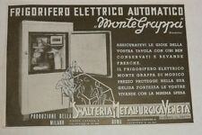 Pubblicità vintage 1937 FRIGORIFERO MONTE GRAPPA FRIDGE advertising publicitè