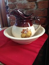 Vintage McCoy Matching Brown Pitcher and Bowl Set U.S.A # 7541 Pitcher & Bowl