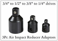 """Enchufe Impacto Aire Reductor Set Paso Adaptadores 3/4 a 1/2 a 3/8 a 1/4"""" dado"""