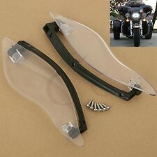 ABS Plastic Clear Side Wings Air Deflectors For Harley Touring 2014-2016 New