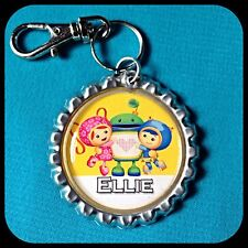 Personalized UMIZOOMI Bottle Cap Name Necklace, Jewelry Zipper Pull Pendant ID