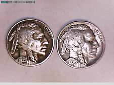 1935-D And 1936-S Buffalo Nickel Five Cent Coin (Beautiful)